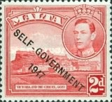 """[King George VI and Local Motifs Overprinted """"SELF-GOVERNMENT - 1947"""", type BA4]"""