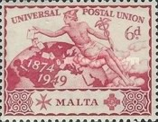 [The 75th Anniversary of the Universal Postal Union, Typ BF]
