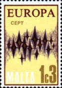 [EUROPA Stamps - Communications - Stars, Typ IF]