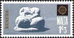[EUROPA Stamps - Sculptures, type JM]