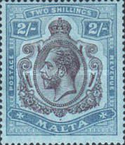 [King George V - Different Watermark, Typ N2]