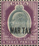 [Overprinted - War Tax, type P1]