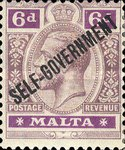 [Overprinted - SELF GOVERNMENT, Typ R8]