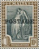 [Allegorical Stamps Overprinted