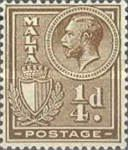 [King George V and Coat of Arms, type X]