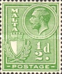 [King George V and Coat of Arms, type X1]