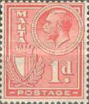 [King George V and Coat of Arms, type X2]