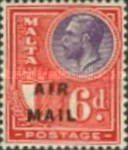"""[Airmail - King George V and Coat of Arms Overprinted """"AIR - MAIL"""", type X20]"""