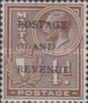 """[King George V and Coat of Arms Stamps of 1926-1927 Overprinted """"POSTAGE AND REVENUE"""", type X21]"""