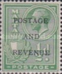 """[King George V and Coat of Arms Stamps of 1926-1927 Overprinted """"POSTAGE AND REVENUE"""", type X22]"""