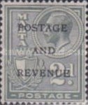 """[King George V and Coat of Arms Stamps of 1926-1927 Overprinted """"POSTAGE AND REVENUE"""", type X25]"""