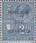 """[King George V and Coat of Arms Stamps of 1926-1927 Overprinted """"POSTAGE AND REVENUE"""", type X26]"""