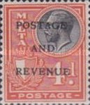 """[King George V and Coat of Arms Stamps of 1926-1927 Overprinted """"POSTAGE AND REVENUE"""", type X28]"""