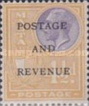 """[King George V and Coat of Arms Stamps of 1926-1927 Overprinted """"POSTAGE AND REVENUE"""", type X29]"""