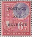"""[King George V and Coat of Arms Stamps of 1926-1927 Overprinted """"POSTAGE AND REVENUE"""", type X30]"""