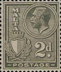 [King George V and Coat of Arms, type X4]