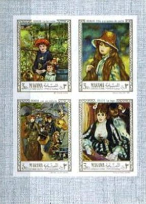 [Airmail - Paintings of Auguste Renoir and Hendrick Terbrugghen, type ]