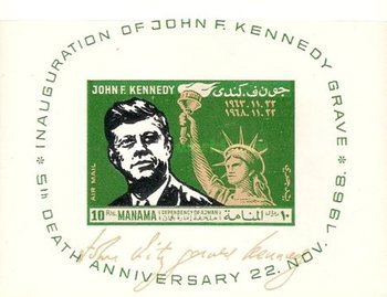 [Airmail - The 5th Anniversary of the Death of John F. Kennedy, 1917-1963, type ]