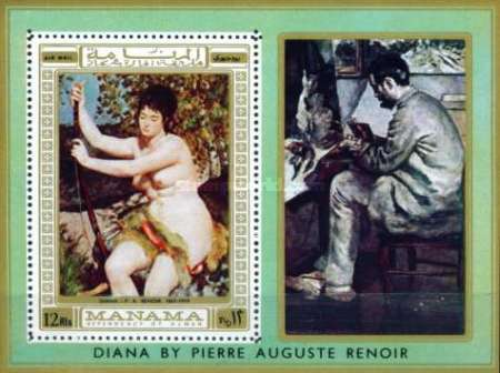 [Airmail - Nude Paintings of Pierre Auguste Renoir, French Impressionist, type ]