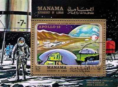 [Airmail - Apollo 13 and Future Moon Research Projects, type ]
