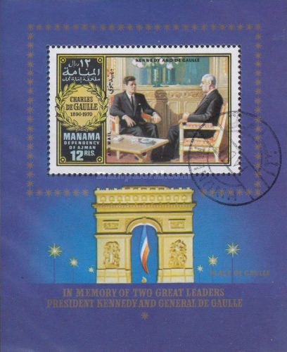 [Airmail - The Death of Charles de Gaulle, 1890-1970, French General and Politician, type ]