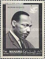 [Airmail - International Year of Human Rights and the 20th Anniversary of Universal Declaration of Human Rights by the UN, type BH]