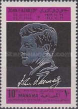 [Airmail - The 5th Anniversary of the Death of John F. Kennedy, 1917-1963, type BV]