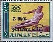 [Olympic Games - Tokyo, Japan - Ajman Postage Stamps of 1965 Surcharged, type C3]