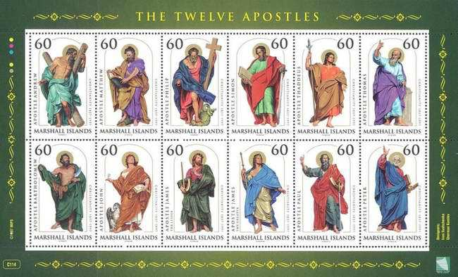 [Easter - The 140th Anniversary of the Introduction of Christianity to the Marshall Islands - The Twelve Disciples, Typ ]