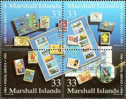 [The 15th Anniversary of the Marshall Islands Postal Service, Typ ]