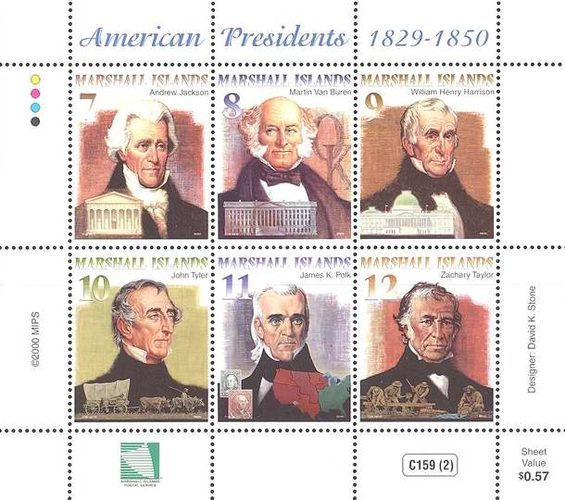 [American Presidents 1829-1850, Typ ]