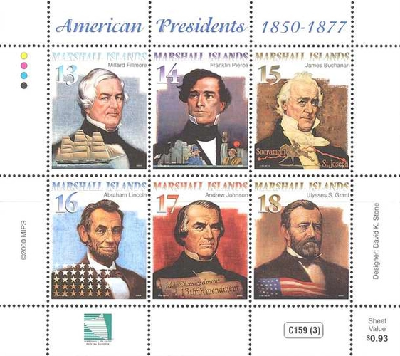 [American Presidents 1850-1877, Typ ]