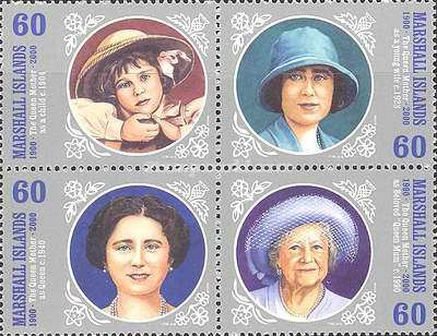 [The 100th Anniversary of the Birth of Queen Elizabeth, the Queen Mother, 1900-2002, Typ ]