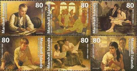 [The 50th Anniversary of the International Federation of Stamp Dealers Association - Paintings by Lyle Tayson, Typ ]