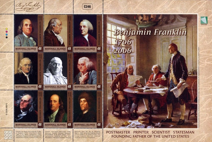 [The 300th Anniversary of the Birth of Benjamin Franklin, 1706-1790, Typ ]