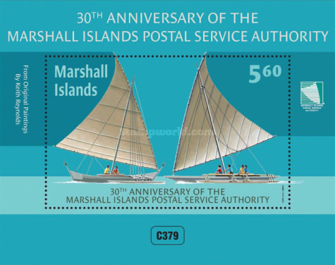 [The 30th Anniversary of Marshall Islands Postal Service, Typ ]