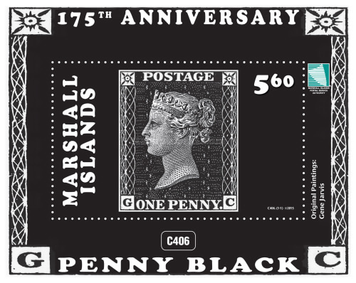[The 175th Anniversary of the World's First Postage Stamp - One Penny Black, Typ ]