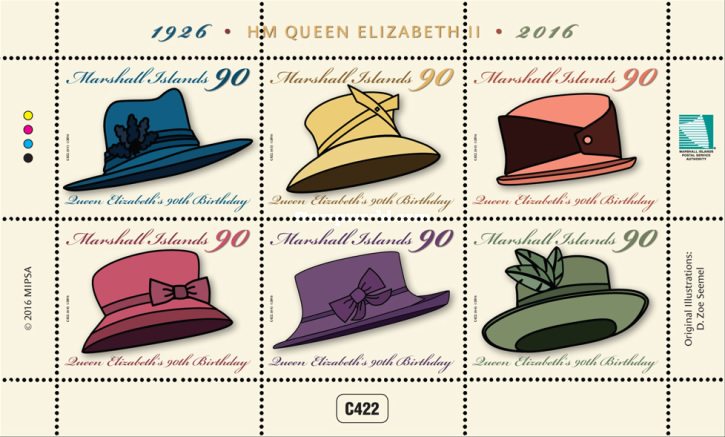 [The 90th Anniversary of the Birth of Queen Elizabeth II - Birthday Hats, Typ ]