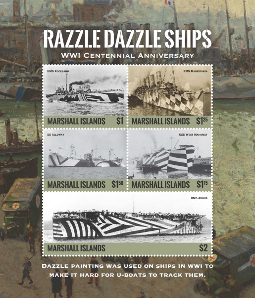 [The 100th Anniversary of the End of World War I - Razzle Dazzle Ships, Typ ]