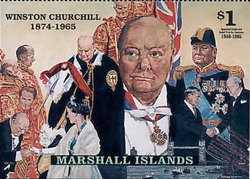 [The 35th Anniversary of the Death of Winston Churchill, British Prime Minister, 1940-1945 and 1951-1955, 1874-1965, Typ AZW]