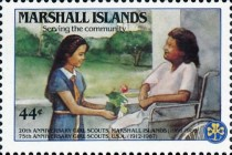 [Airmail - The 20th Anniversary of Marshall Island Girl Scouts and the 75th Anniversary (1987) of United States Girl Scout Movement, Typ CW]