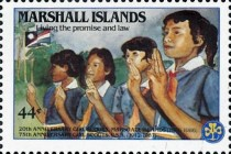 [Airmail - The 20th Anniversary of Marshall Island Girl Scouts and the 75th Anniversary (1987) of United States Girl Scout Movement, Typ CX]