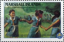 [Airmail - The 20th Anniversary of Marshall Island Girl Scouts and the 75th Anniversary (1987) of United States Girl Scout Movement, Typ CY]