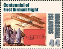 [First in Flight - The 100th Anniversary of the First Airmail Flight, Typ CYM]