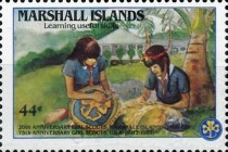 [Airmail - The 20th Anniversary of Marshall Island Girl Scouts and the 75th Anniversary (1987) of United States Girl Scout Movement, Typ CZ]