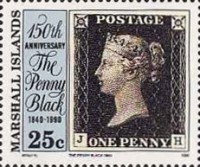 [The 150th Anniversary of the Penny Black, Typ KB]