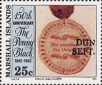 [The 150th Anniversary of the Penny Black, Typ KC]