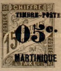 [French Colonies - Postage Due Stamps, Issue of  1884 Surcharged & Overprinted
