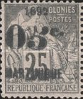 [French Colonies No.53 Surcharged & Overprinted