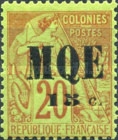 [French Colonies - General Issues No. 51 Surcharged & Overprinted